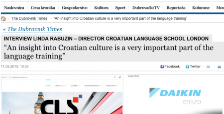 CLS in The Dubrovnik Times interview